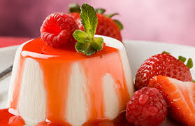 Bavarian Cream with Red Fruits
