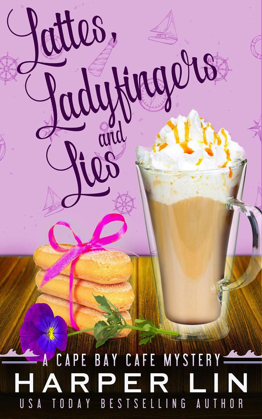 Book 4 2016 Lattes, Ladyfingers, and Lies - A Cape Bay Cafe Mystery by Harper Lin